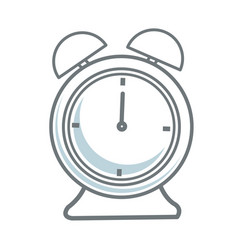 alarm clock time alert hour icon vector image
