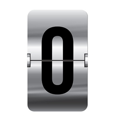 Alphabet silver flipboard letters o vector