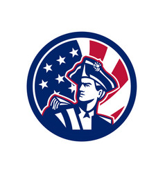 american patriot usa flag icon vector image