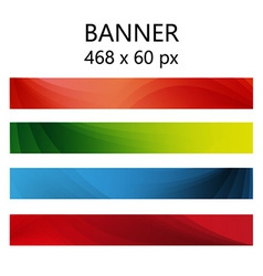 Banner abstract color vector