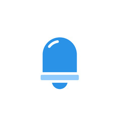 bell icon blue monochrome color vector image