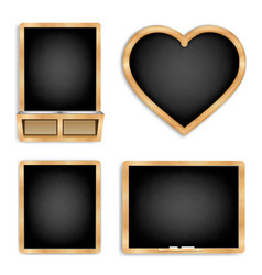 black slate set 1 vector image