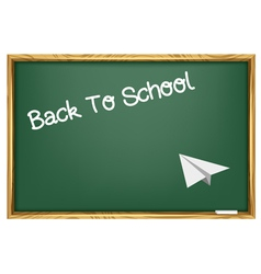 blackboard and paper plane vector image