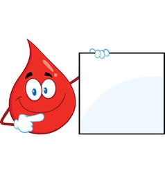 Blood drop cartoon vector