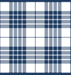 blue and white tartan plaid seamless pattern vector image