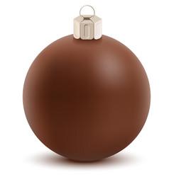 Brown chocolate christmas ball sweet festive vector