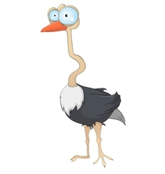 cartoon character ostrich vector image