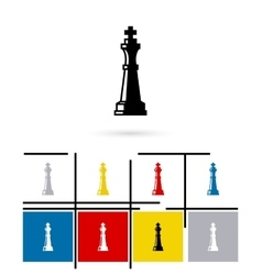 Chess queen icon vector image