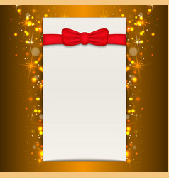 christmas background with blank sheet of paper vector image