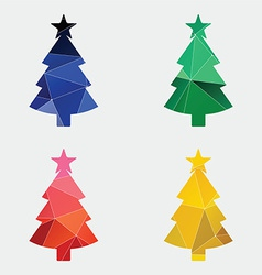 Christmas tree icon Abstract Triangle vector