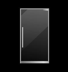 closed glass door realistic exterior element vector image