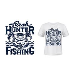 crab mascot t-shirt apparel print mockup vector image