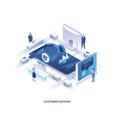customer or technical support service isometric vector image
