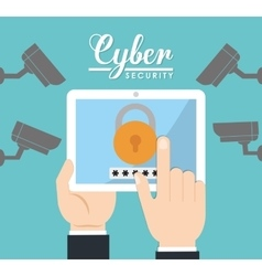 Cyber security system design vector