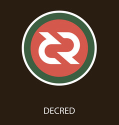 Decred coin cryptocurrency sign vector