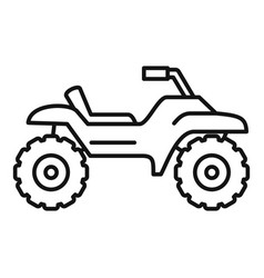 Dirt tire quad bike icon outline style vector