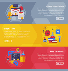 education and learning landing page templates set vector image