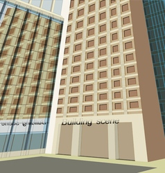 Facade build scene vector