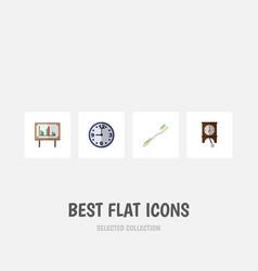 flat icon lifestyle set of dental clock vector image