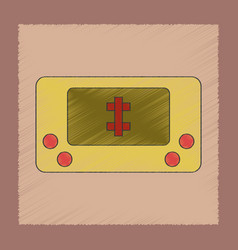 flat shading style icon kid toy console vector image