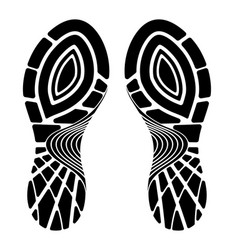 footprint sport shoe isolated on a white vector image