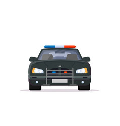 front view of police car vector image