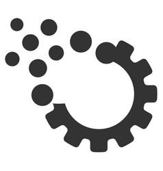 Gear disruption icon vector