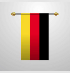 germany hanging flag vector image