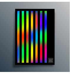 Gradient texture template with linear design vector