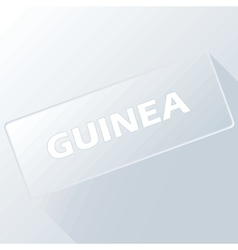 Guinea unique button vector