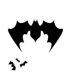 Halloween bat icon vector