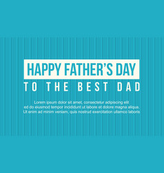 Happy father day banner style collection vector