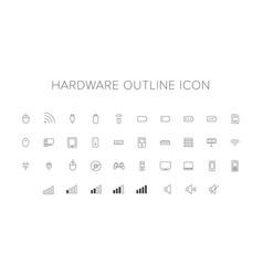 hardware line icon set vector image