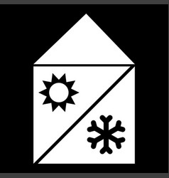 home cooling and heating system it is the white vector image