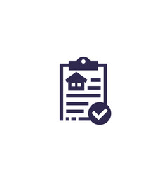 house insurance document icon vector image