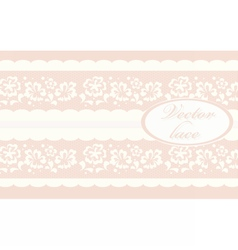 Invitation card with lace ornaments vector image