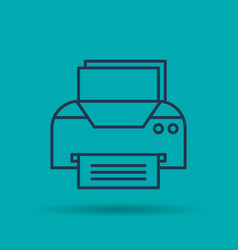 Isolated icon of office printer vector