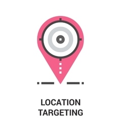 Location targeting icon concept vector