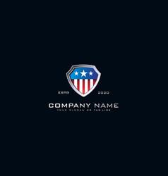 Logo american shield vector