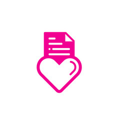 love document logo icon design vector image