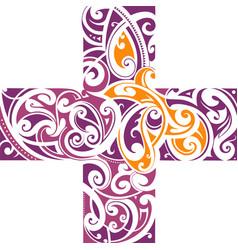 maori style tattoo shape vector image