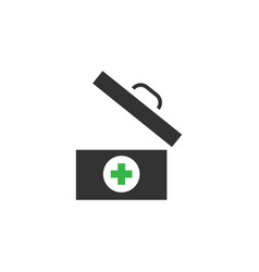 medical box icon design template isolated vector image