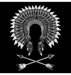 Native american indian war bonnet vector image