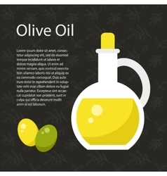 Olive Oil Template vector image