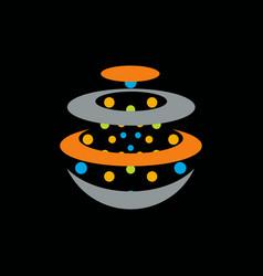 orbit logo vector image