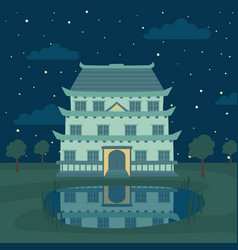 Pagoda traditional japanese chinese asian vector