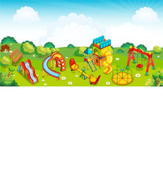 Playground on the meadow vector image