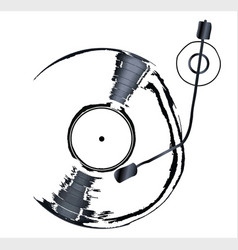 record deck background vector image