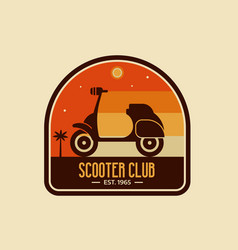 scooter club badge or emblem vector image