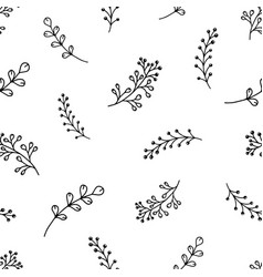 seamless contour pattern flowers vector image